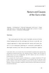 Nature and Causes of the Euro crisi...