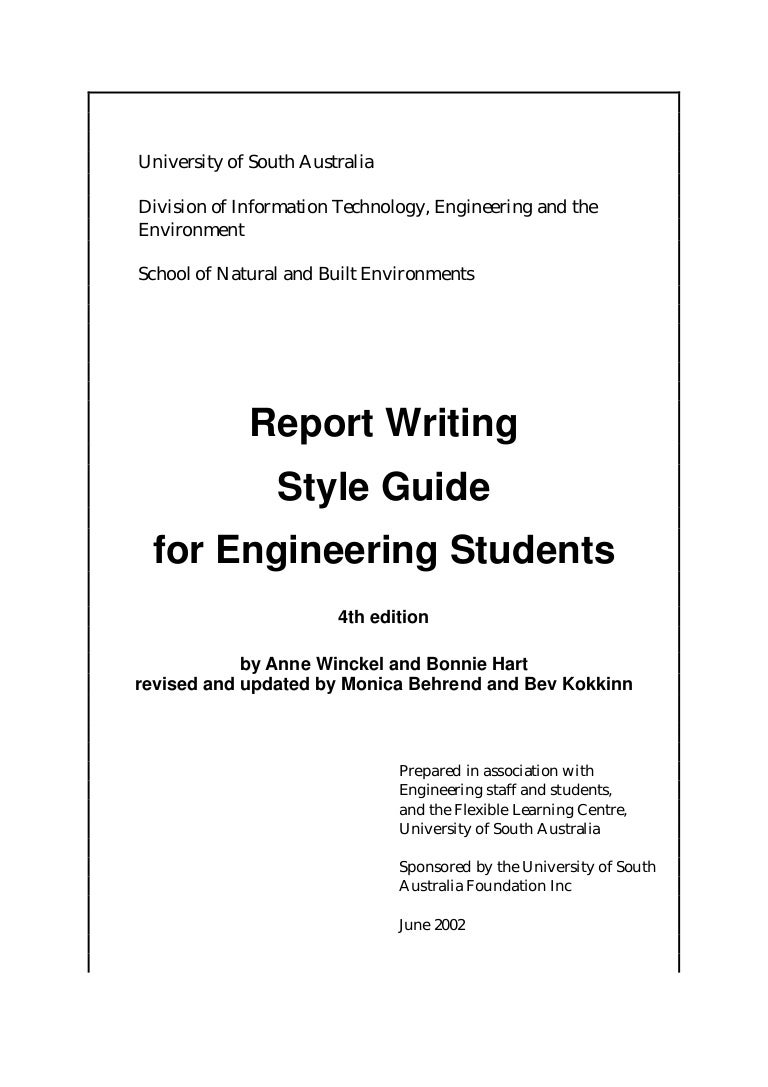 Engineering Writing Format  How To Write An Official Report Format