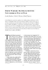 Drone Warfare: Blowback from the Ne...