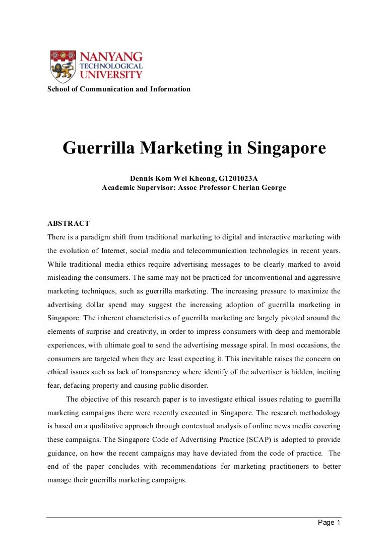 Research paper cause related marketing