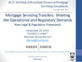 Mortgage Servicing Transfers: Meeting the Operational and Regulatory Demands