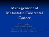 management of metastatic colorecta...