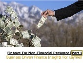 Finance for non financial personnel - part 1