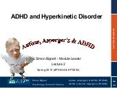 Topic 2 - ADHD and Hyperkinetic Dis...