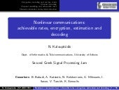Nonlinear Communications: Achievabl...