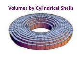 7.3 volumes by cylindrical shells