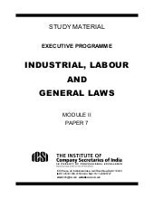 Industrial, labour and General laws