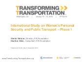 International Study on Women's Personal Security and Public Transport – Phase 1 - Transforming Transportation 2016