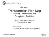 Transportation Plan Map In County Comprehensive Plan-Completed Facilities