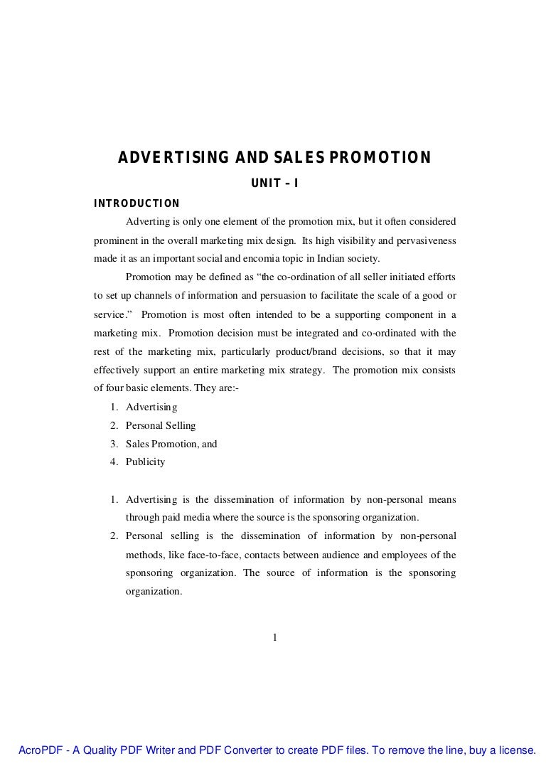 College Application Report Writing Letter  Advertising And Sales Promotion  Phpapp Thumbnail