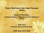 Role of BioFuels in Global Warming ...