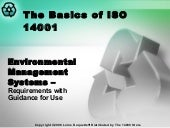 Basics of ISO14001