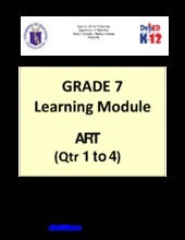 Grade 7 Learning Module in Art (Qua...