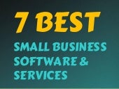 7 Best Small Business Software & Services