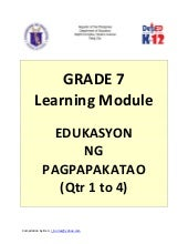 Grade 7 Learning Module in Edukasyo...