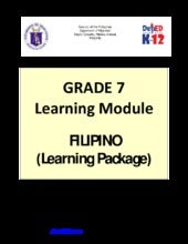 Grade 7 Learning Module in Filipino...