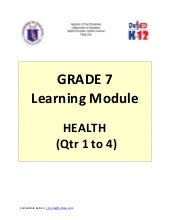 Grade 7 Learning Module in Health (...