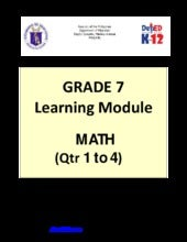 Grade 7 Learning Module in Math (Qu...
