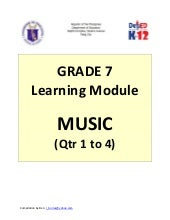Grade 7 Learning Module in Music (Q...