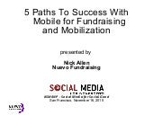 5 Paths To Success With Mobile For Fundraising And Mobilization