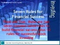 Seven Rules For Financial Success