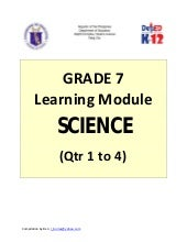 Grade 7 Learning Module in Science ...
