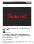 7 smart ways marketers are using pinterest to drive sales