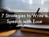 7 Strategies to Write a Speech With Ease