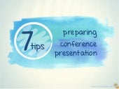 7 Tips for a Stress-Free Conference Presentation