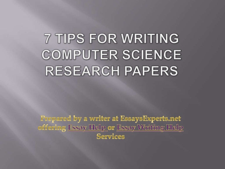 Research papers of computer science
