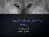 11 Tools for your Open Source devops stack