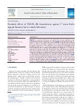 Effects of TMOF-Bti against Aedes o...