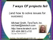 7 ways ColdFusion projects fail