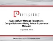 Successfully Implement Responsive Design Behavior with Adobe Experience Manager