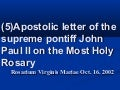 8. Apostolic Letter on Rosary