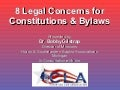 8 Legal Concerns For Constitutions & Bylaws