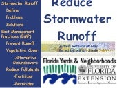 FYN Principle #8 - Reduce Stormwate...