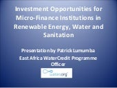 AMERMS Workshop 8: Microfinance for...