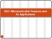 8051 microcontroller features