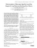 Determination of Maximum Span Between Pipe Supports Using Maximum Bending Stress Theory