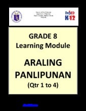 Grade 8 Learning Module in Araling ...