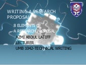 8 Elements In A Research Proposal