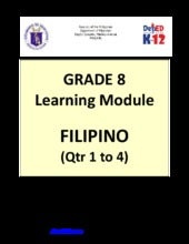 Grade 8 Learning Module in Filipino...