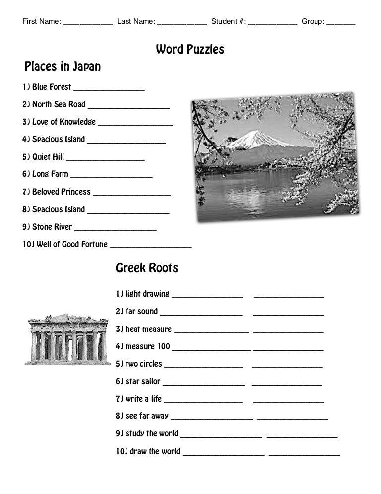 Worksheets Greek Roots Worksheet 8 greek roots worksheet
