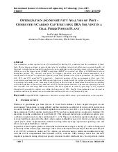 OPTIMIZATION AND SENSITIVITY ANALYSIS OF POST - COMBUSTION CARBON CAPTURE USING DEA SOLVENT IN A COAL FIRED POWER PLANT