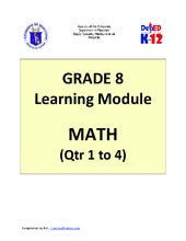Grade 8 Learning Module in Math - C...
