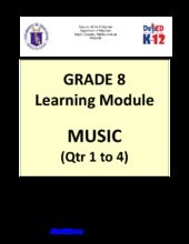 Grade 8 Learning Module in Music - ...