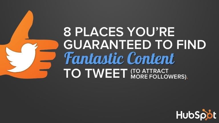 8 Places You're Guaranteed to Find Great Content to Tweet