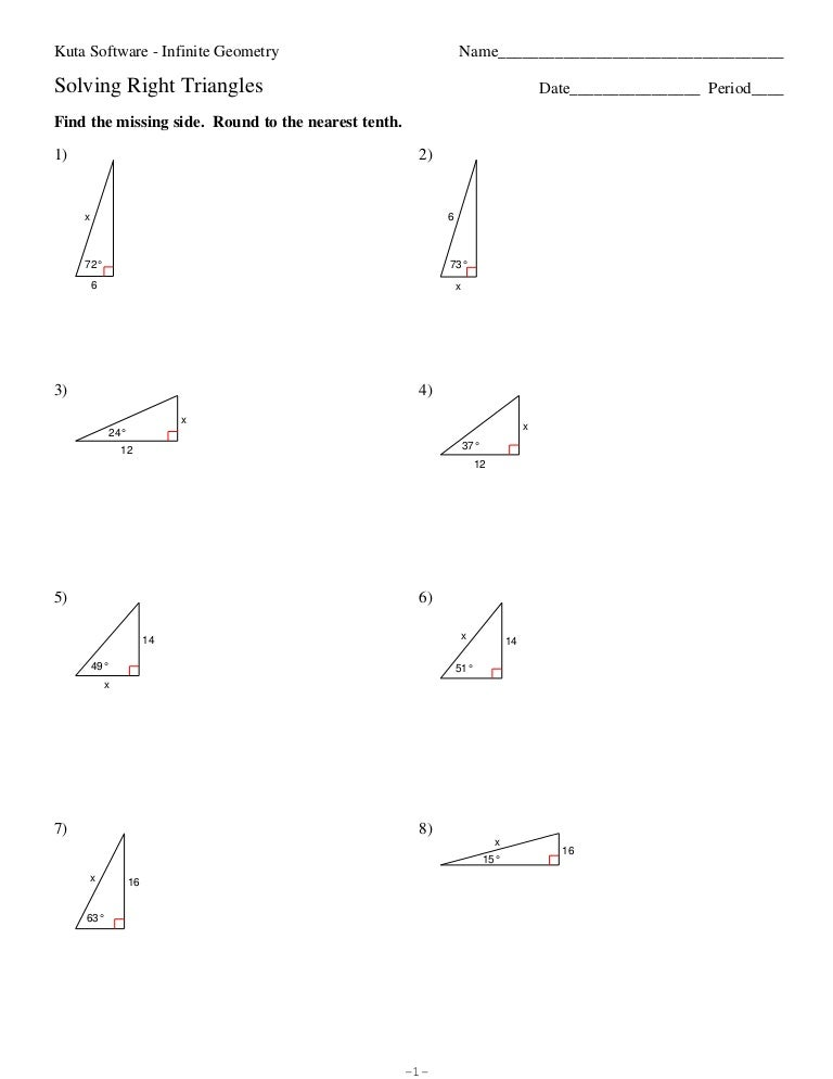 Solving Right Triangles Worksheet Answers - Thimothy Worksheet