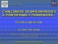 9 10.15am Challenges In Implementing A Performance Framework (P. Perczynski And M. Postula) English